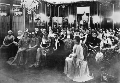 Edward Cahill seated in the front row on the left of Princess Alice